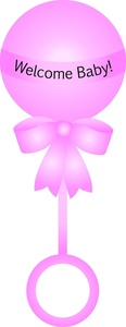Pink clipart baby rattle & Clip Baby Rattle collection