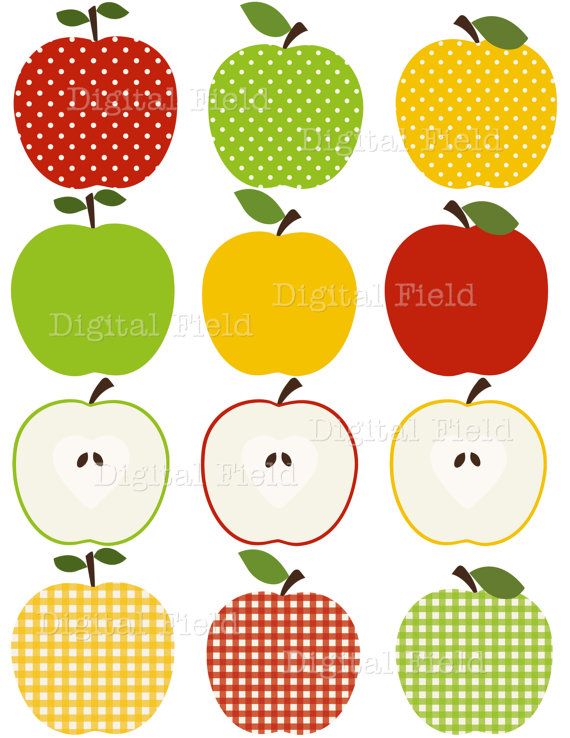 Apple clipart plaid Clipart yellow apple clipart red