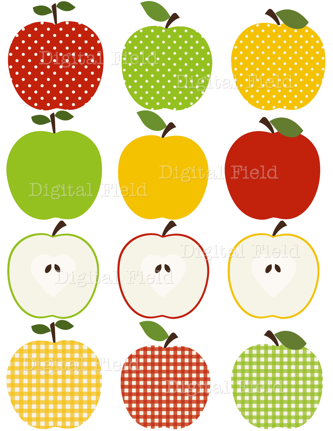 Dots clipart transparent apple Border Red Yellow Clipart Download