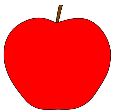Apple clipart simple Red Apple Free Clip Free