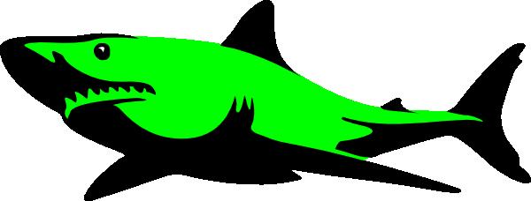 Shark clipart green #2