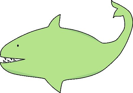 Shark clipart green #1