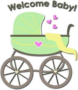 Carriage clipart baby shower Baby Text Text Clipart