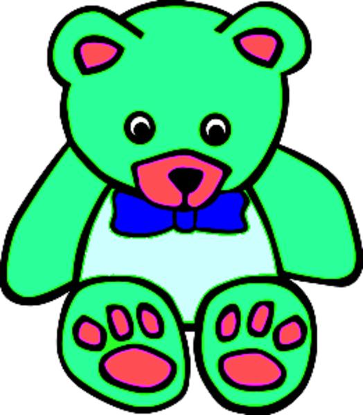 Teddy clipart green #2