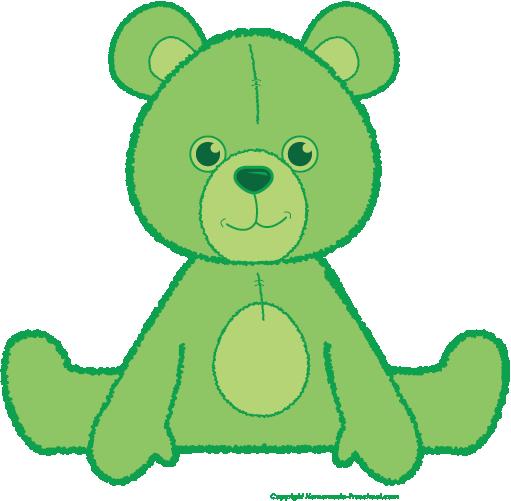 Teddy clipart green #6