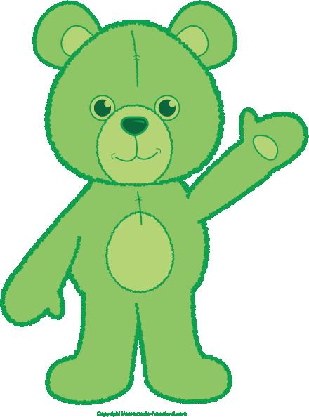 Teddy clipart green #4