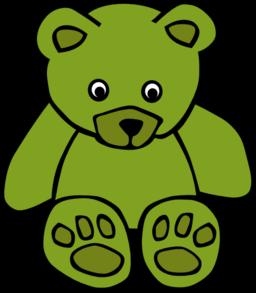 Teddy clipart green #8