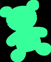 Teddy clipart green #7