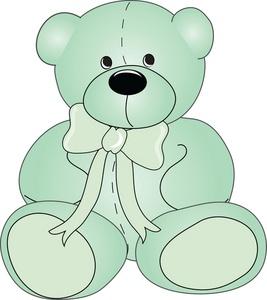 Teddy clipart green #3