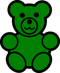 Bear clipart green Green  Bear art Art