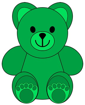 Bear clipart green Bears Art Colored 30 Clip