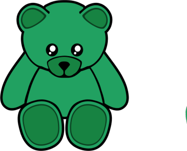 Bear clipart green Cliparts bear Bear Color Green