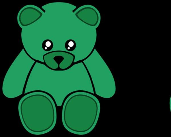 Teddy clipart green #1