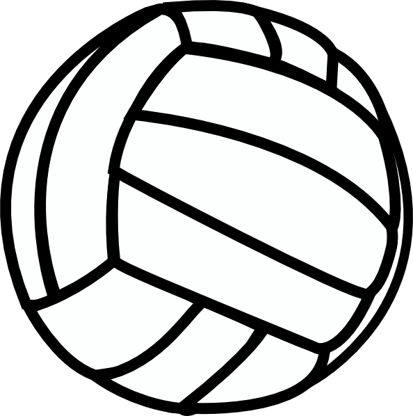 Simple clipart volleyball #6