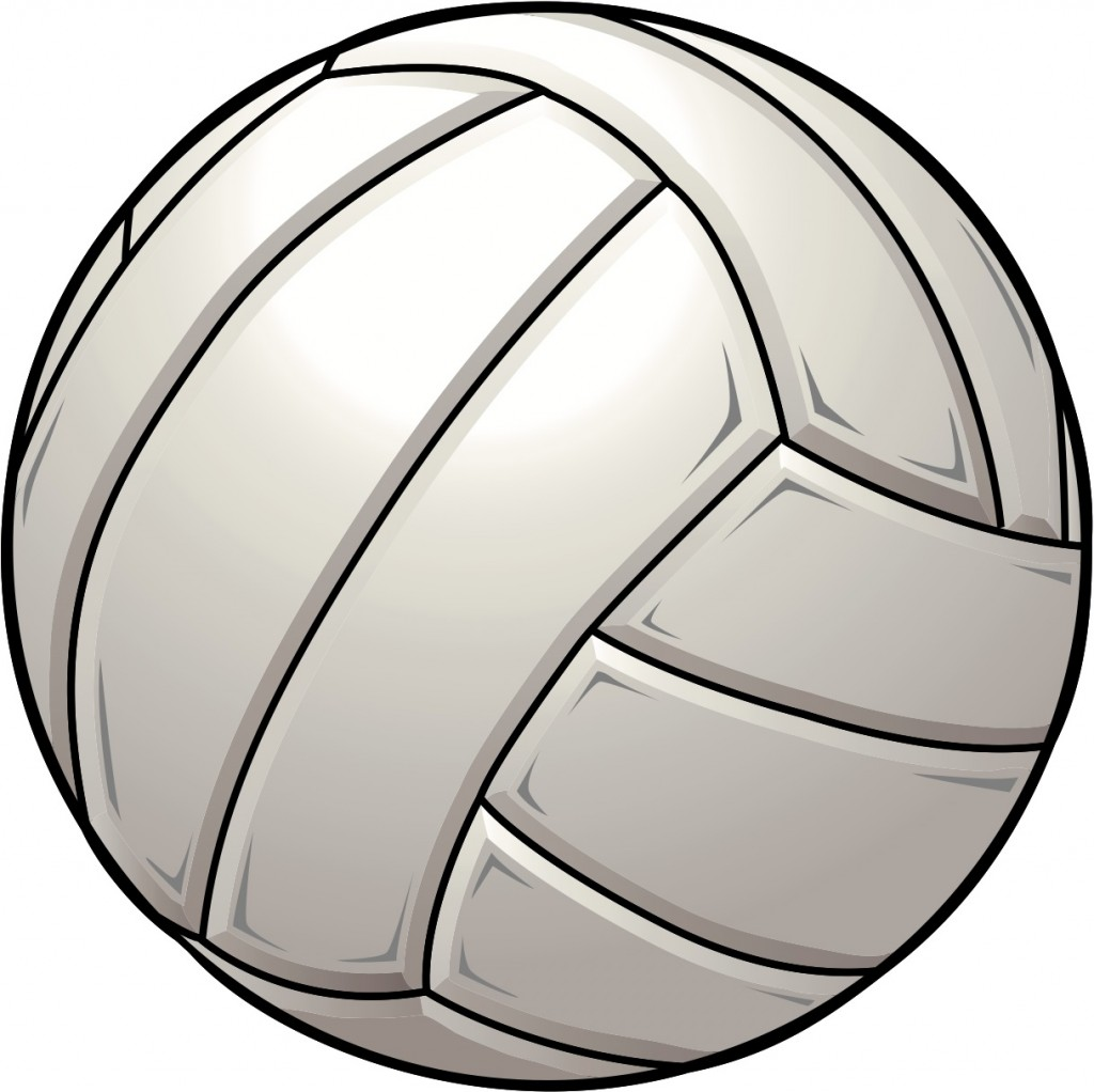 Simple clipart volleyball #3