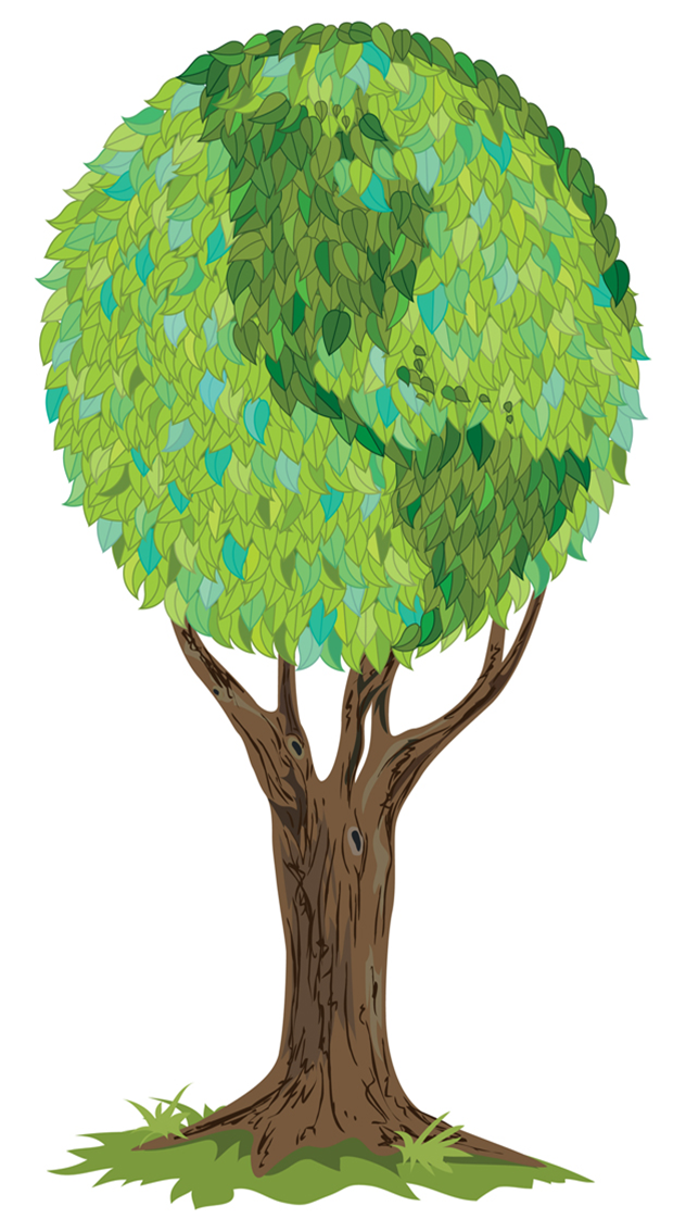 Green Day clipart afforestation Clipart Earth Tree Panda Clipart