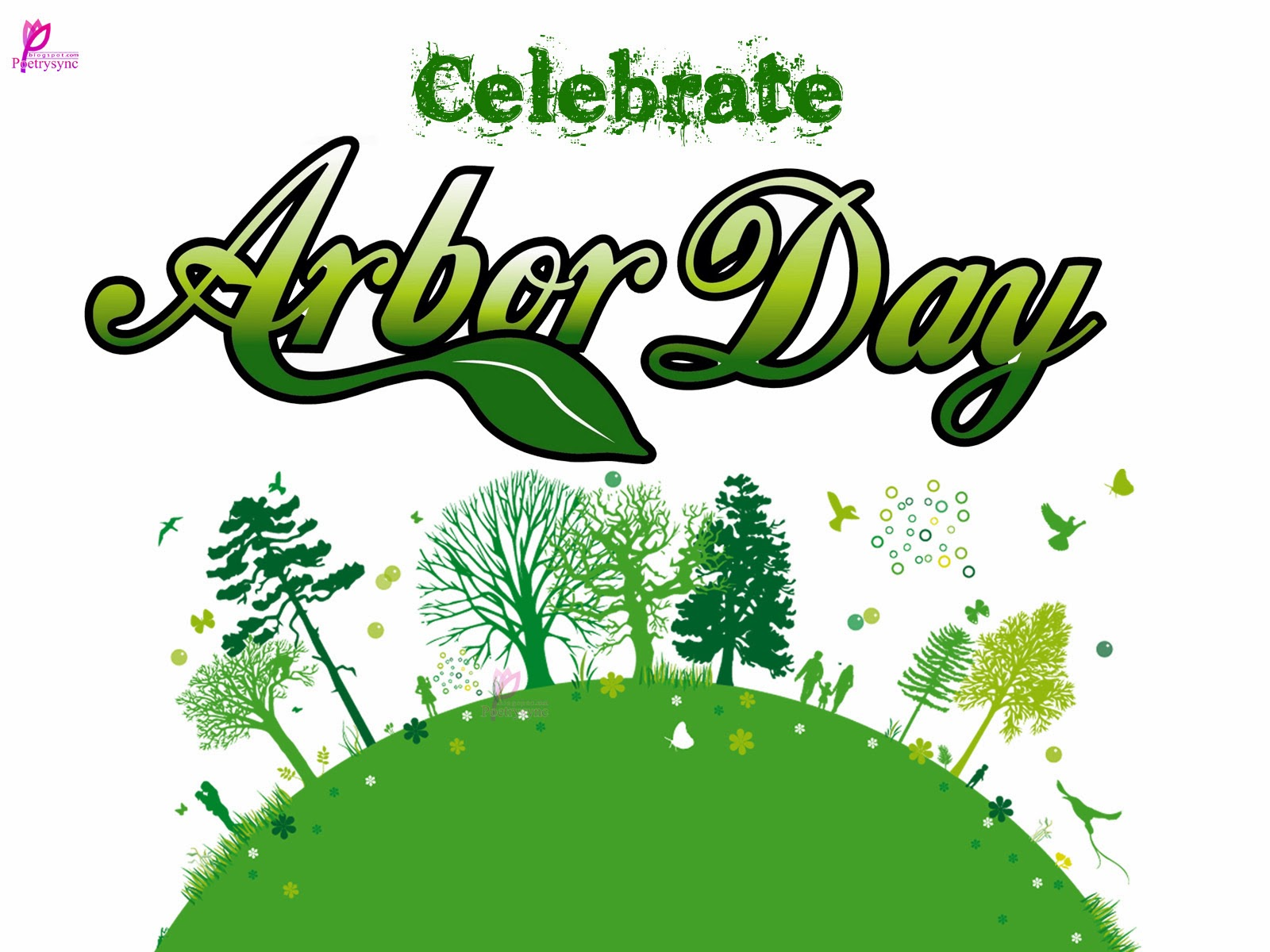 Green Day clipart arbor day For this JPG Card (1600