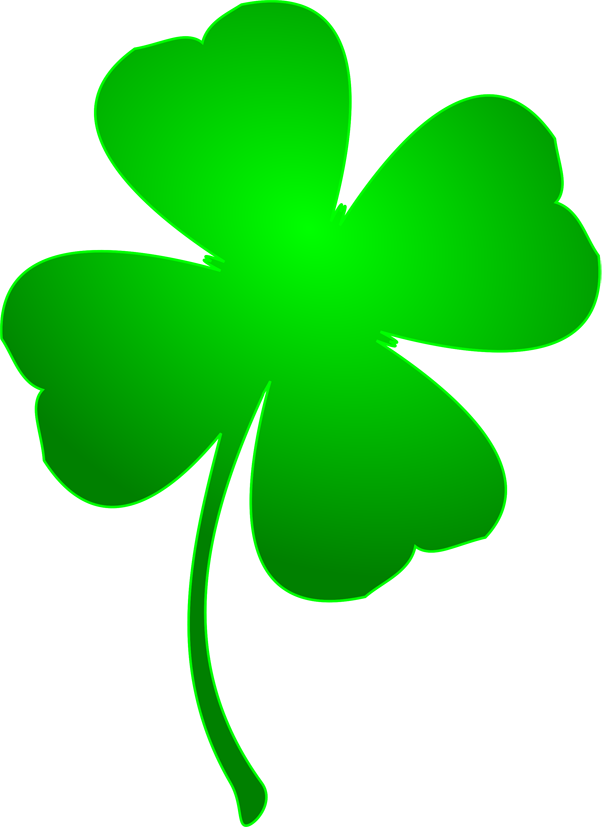 Green Day clipart clover Shamrock four four Patrick's Day