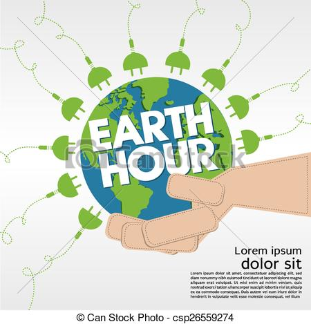 Green Day clipart earth hour Conceptual of Hour Conceptual Earth