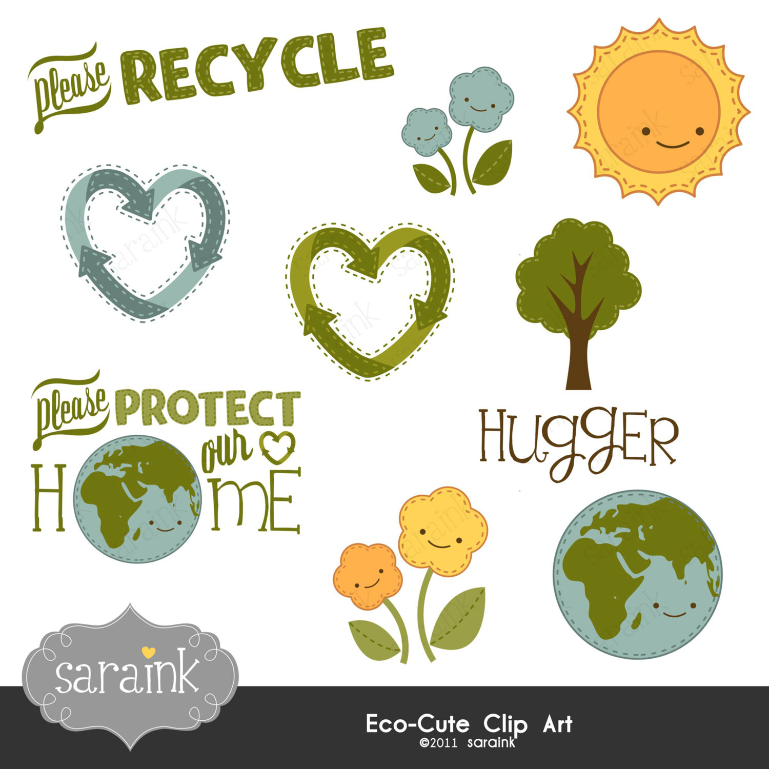 Green Day clipart eco friendly Cute Saraink by Friendly Eco