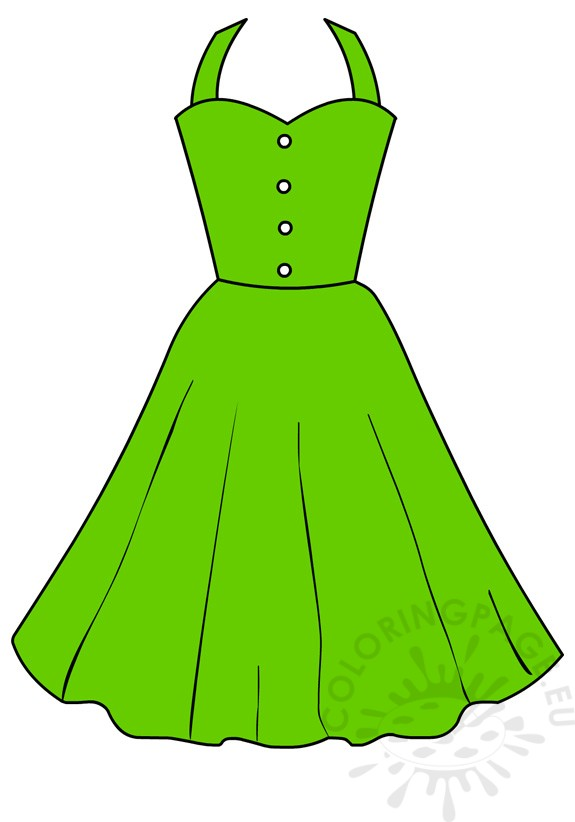 Green Day clipart green dress Vector Illustration women Green Share: