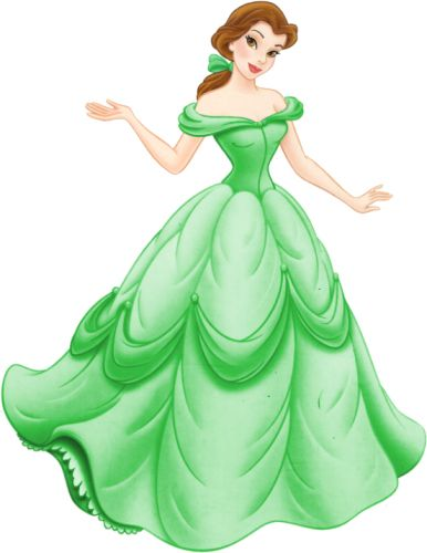 Green Day clipart green dress Belle and images best Princess