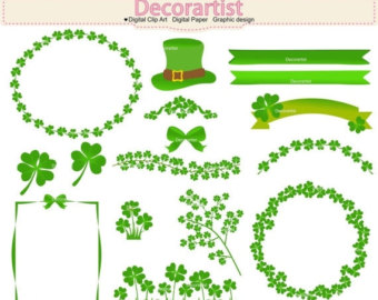 Green Day clipart green leaf Clipart clipart Day clover Patrick
