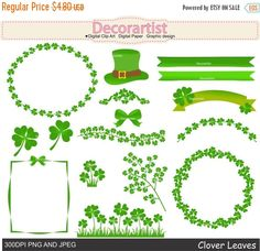 Green Day clipart green leave Watercolor Patrick clipart DIY Patrick's
