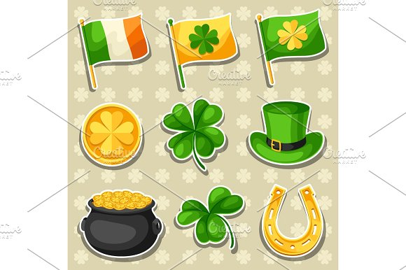 Green Day clipart green object Of Saint coins gold objects