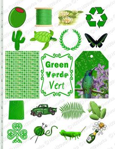 Green Day clipart green object Green fern frog Art tag
