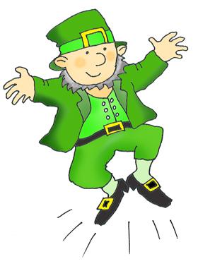 Green Day clipart leprechaun Leprechaun Patrick's st dansing patricks