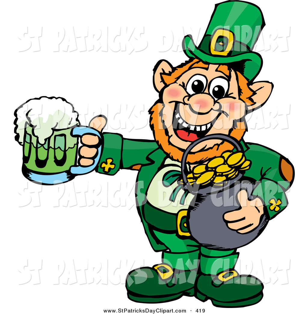 Green Day clipart leprechaun Clip a Patricks Saint Happy