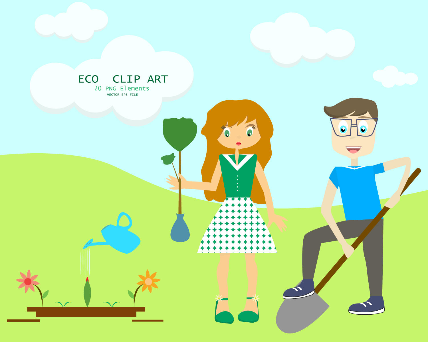 Green Day clipart love earth A village I ECO is