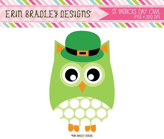 Green Day clipart owl Patrick's Owl St Freebie Clipart