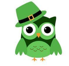 Green Day clipart owl Birds Irish clip cute digital