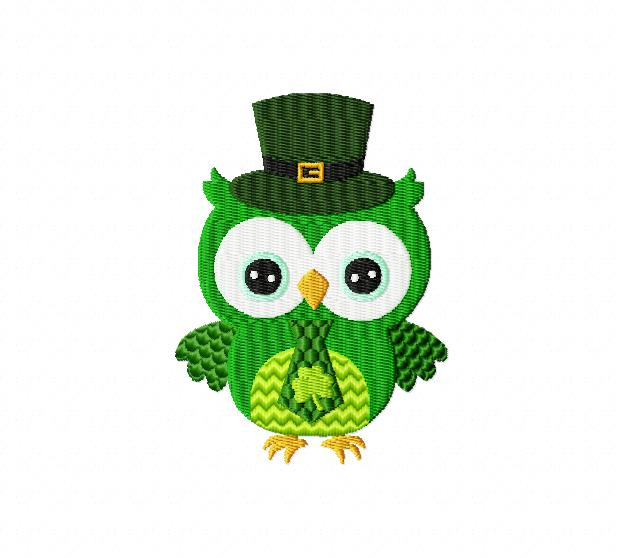 Green Day clipart owl 2 Breezy Owl Embroidery Lane