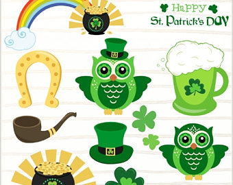 Green Day clipart owl St commercial patrick's clipart St