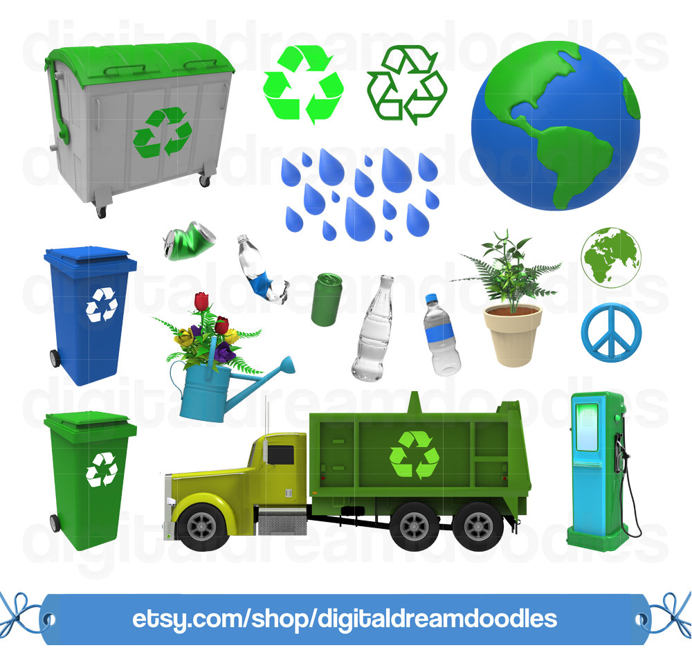 Green Day clipart recycle  file digital Recycle Day