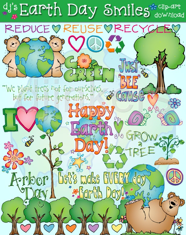 Green Day clipart recycle Smiles Day go  Earth