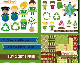 Green Day clipart recycle Earth Green and Go Go