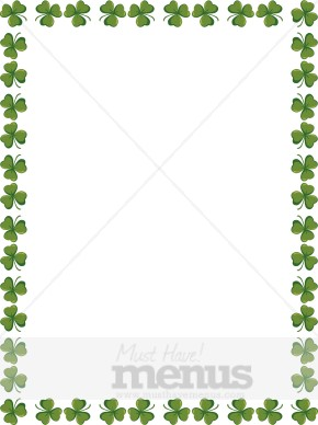 Green Day clipart shamrock Border green Shamrock green Shamrock