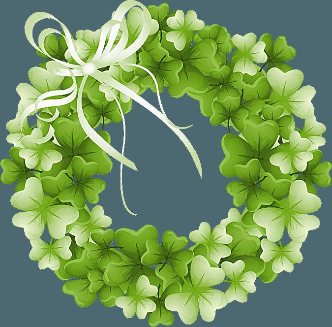 Green Day clipart shamrock Wreath Art a Shamrock Clip