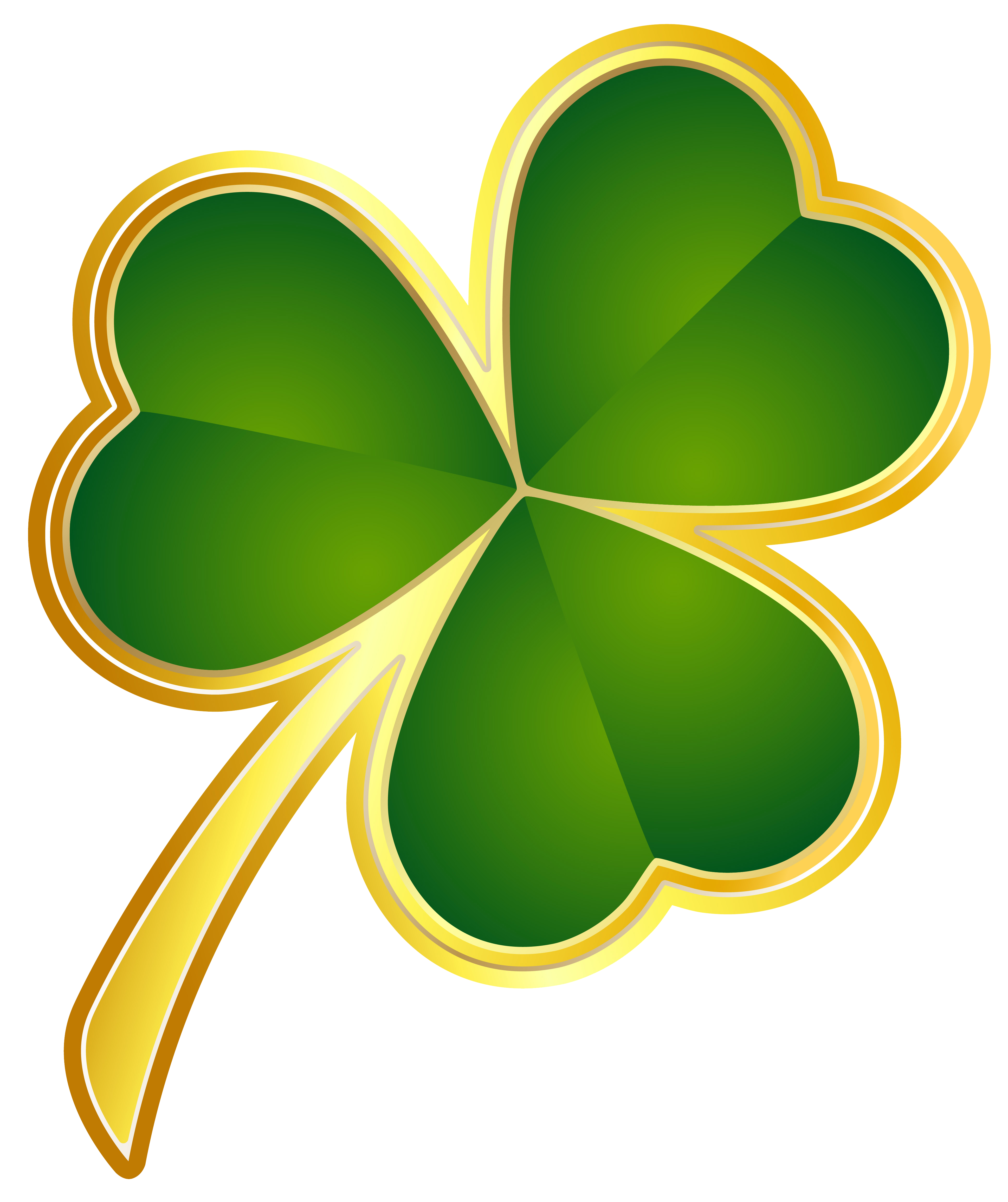 Yellow clipart shamrock Gallery View PNG size full