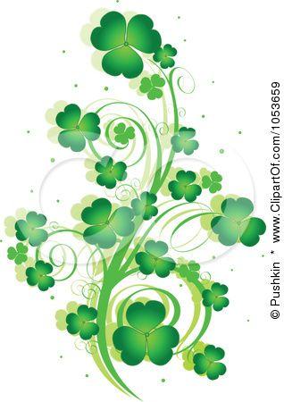 Green Day clipart shamrock Images swirls 245 best Shamrock