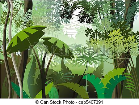 Green Day clipart vegetation Clip in Jungle jungle plants