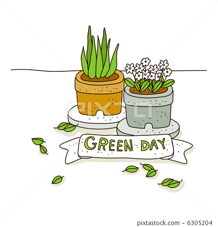 Green Day clipart vegetation 6305204 [6305204 green Illustration vegetation