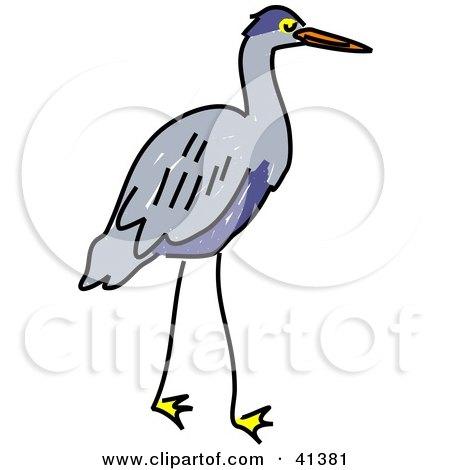 Green Heron clipart Heron art heron Blue Clipart