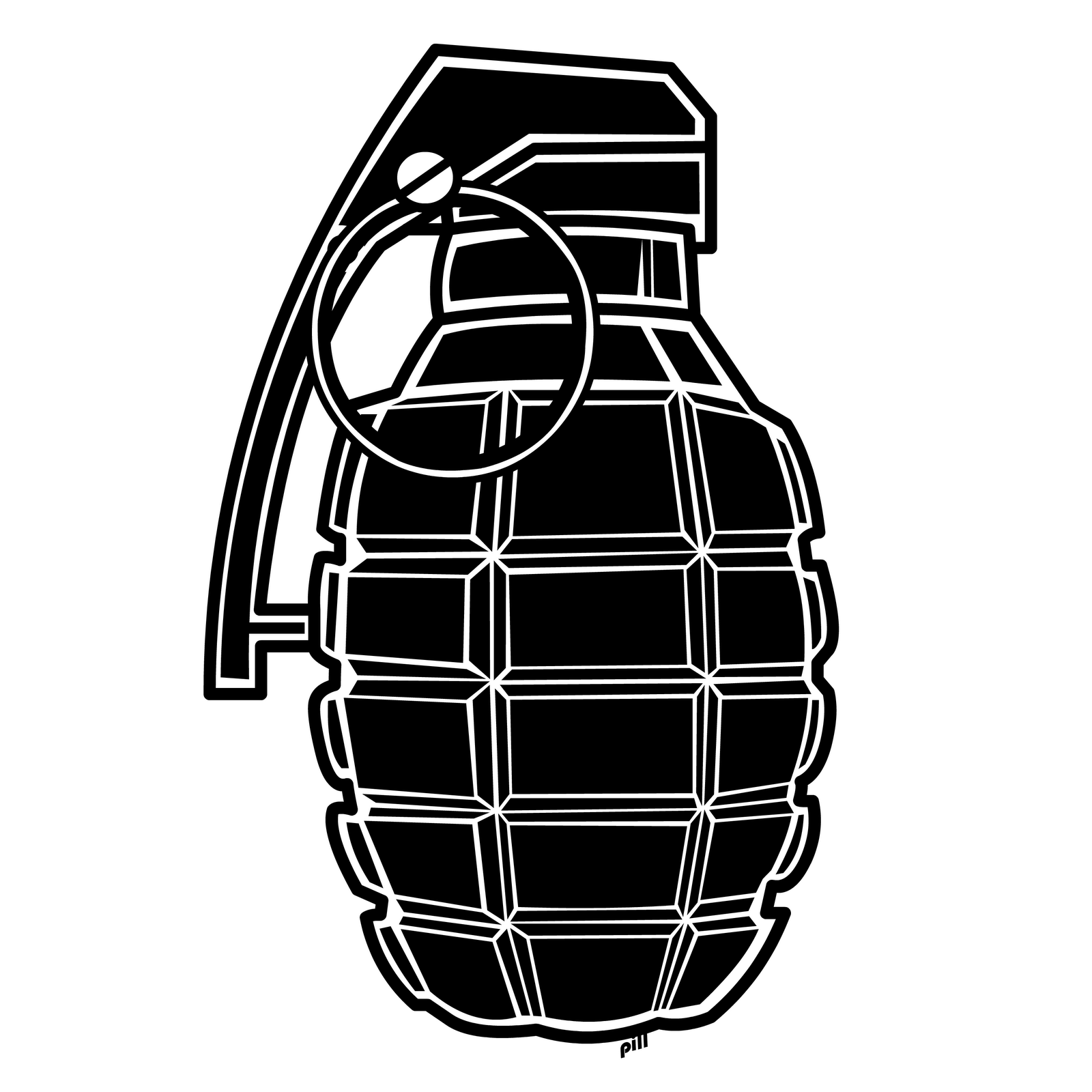 Drawn grenade hand grenade Bubbles Thought Masteri Grenades Clipart