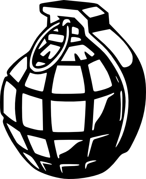 Grenade clipart Grenade svg clip art vector