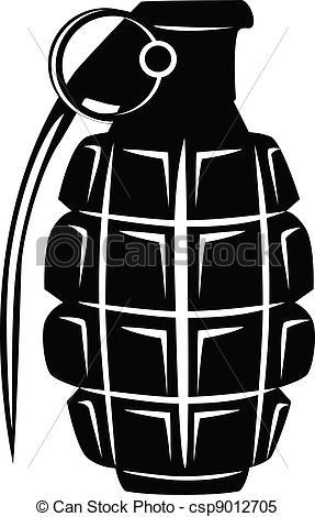 Drawn grenade vector Vector grenade of Vector manual